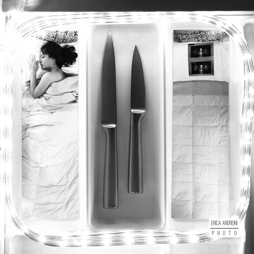 Il giorno che hai smesso di dirmi buonanotte Stampa su carta baritata 40x40 2014